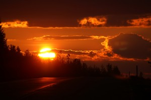 Sonnenuntergang in Nordschweden