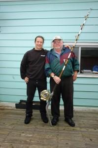 Skipper Sandy & Ich mit der Weltrekord Rute