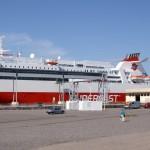 Eine der Fähren nach Finnland